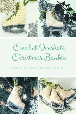 Free Crochet Pattern Christmas Iceskate Ornatmentble