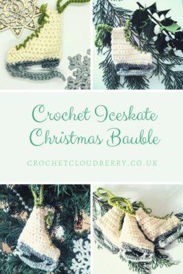Free Crochet Pattern Christmas Iceskate Ornatmentble