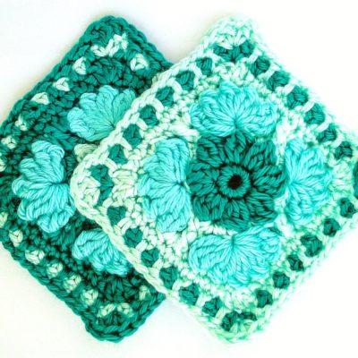 Free crochet patterns - Ice Flower Granny Square