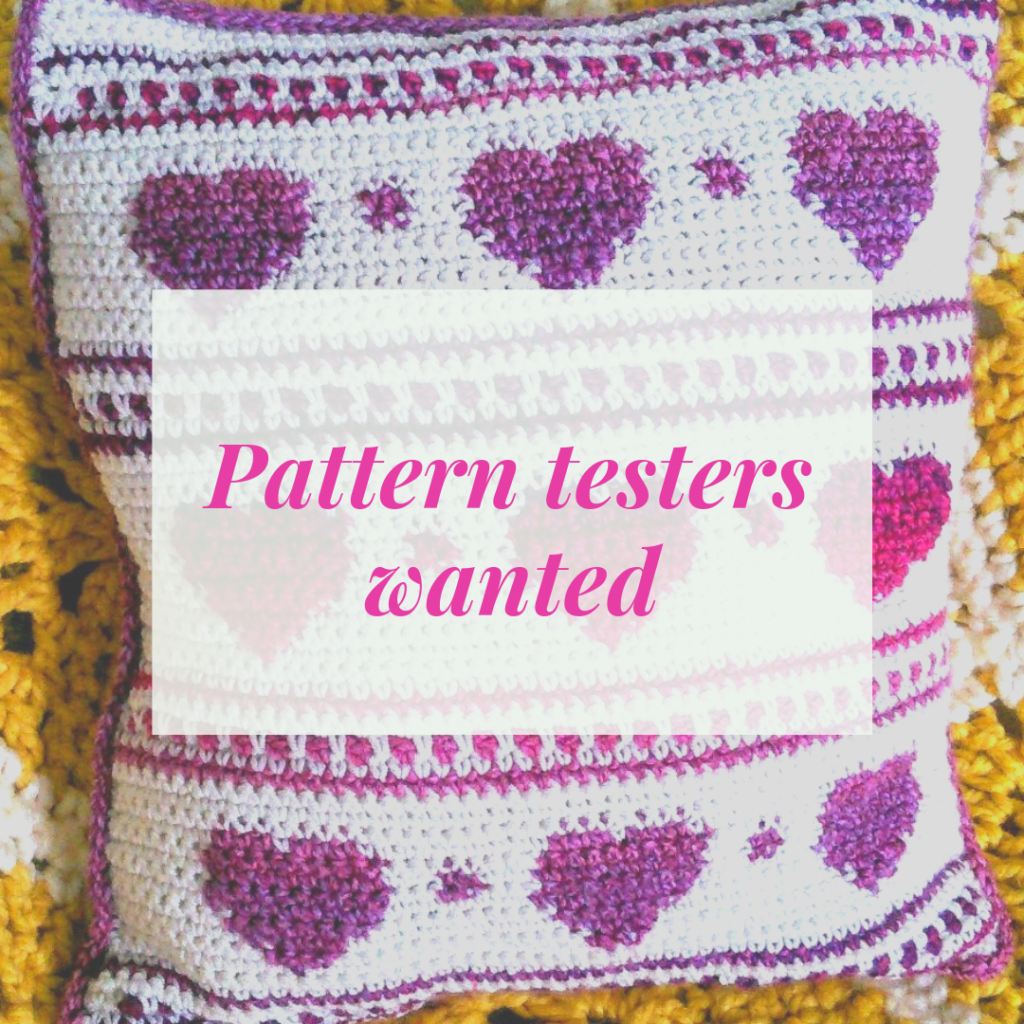 Crochet pattern hygge heart cushion cover