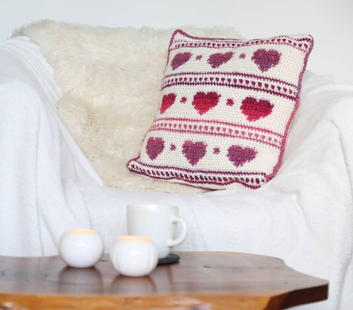 Hygge Heart Cushion Cover