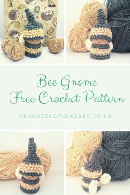 Bee Gnome - Free Crochet Pattern