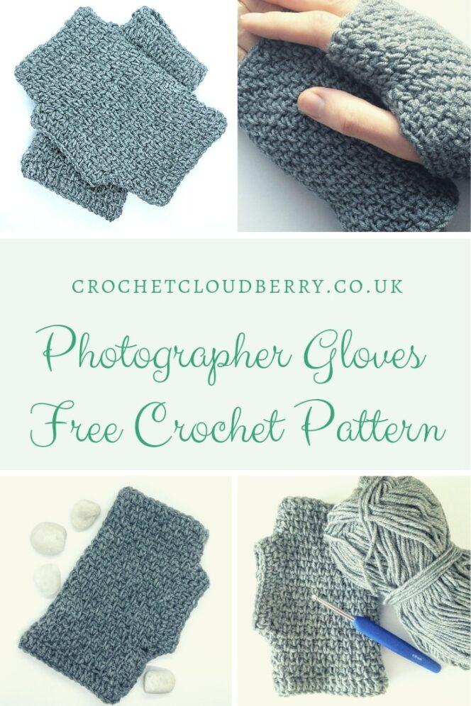 Free crochet pattern for fingerless gloves by Crochet Cloudberry