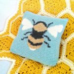 Crochet Cloudberry - Bee Cushion Pattern