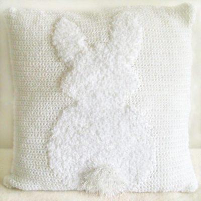 Fluffy bunny cushion pillow pattern