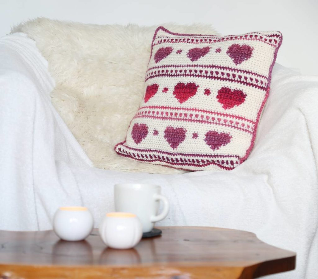 Hygge Heart Crochet Cushion Cover Pattern - Crochet Cloudberry