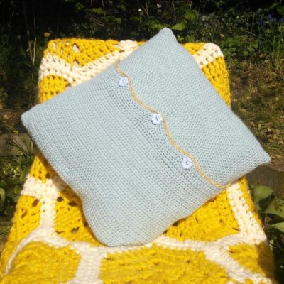 Buzzy Bee Crochet Cushion Cover
