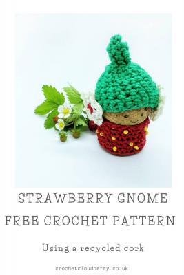 Strawberry Cork Gnome - Free Crochet Pattern - Crochet Cloudberry
