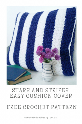 Stars and Stripes Free Crochet Cushion Pattern - Crochet Cloudberry