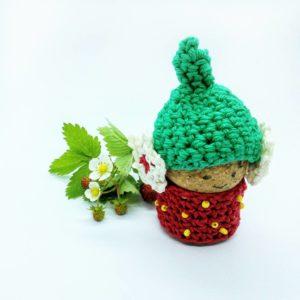 Stawberry Cork Gnome - Free Crochet Pattern - Crochet Cloudberry