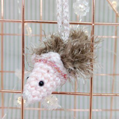 Hedgehog Christmas Bauble - Free Crochet Pattern