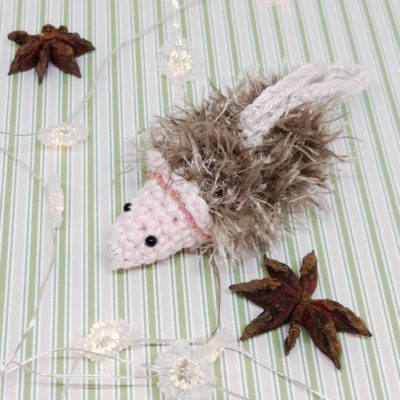 Hedgehog Christmas Bauble - Free Crochet Pattern
