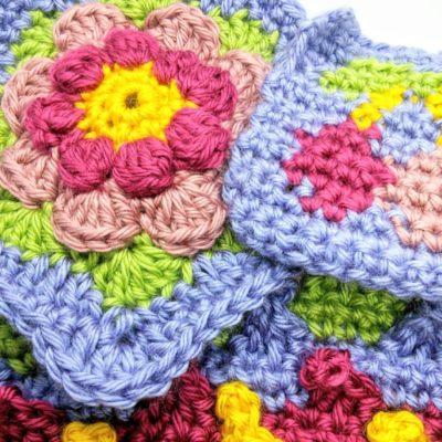 Crochet Cloudbery - Juicy Cherry Cushion