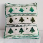 Christmas Cushion Cover - Crochet Cloudberr