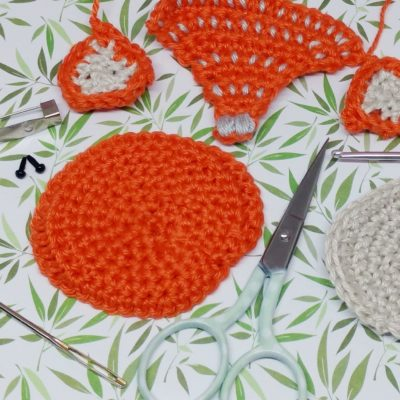 Crochet Fox Brooch - Free Crochet Pattern - Crochet Cloudberry