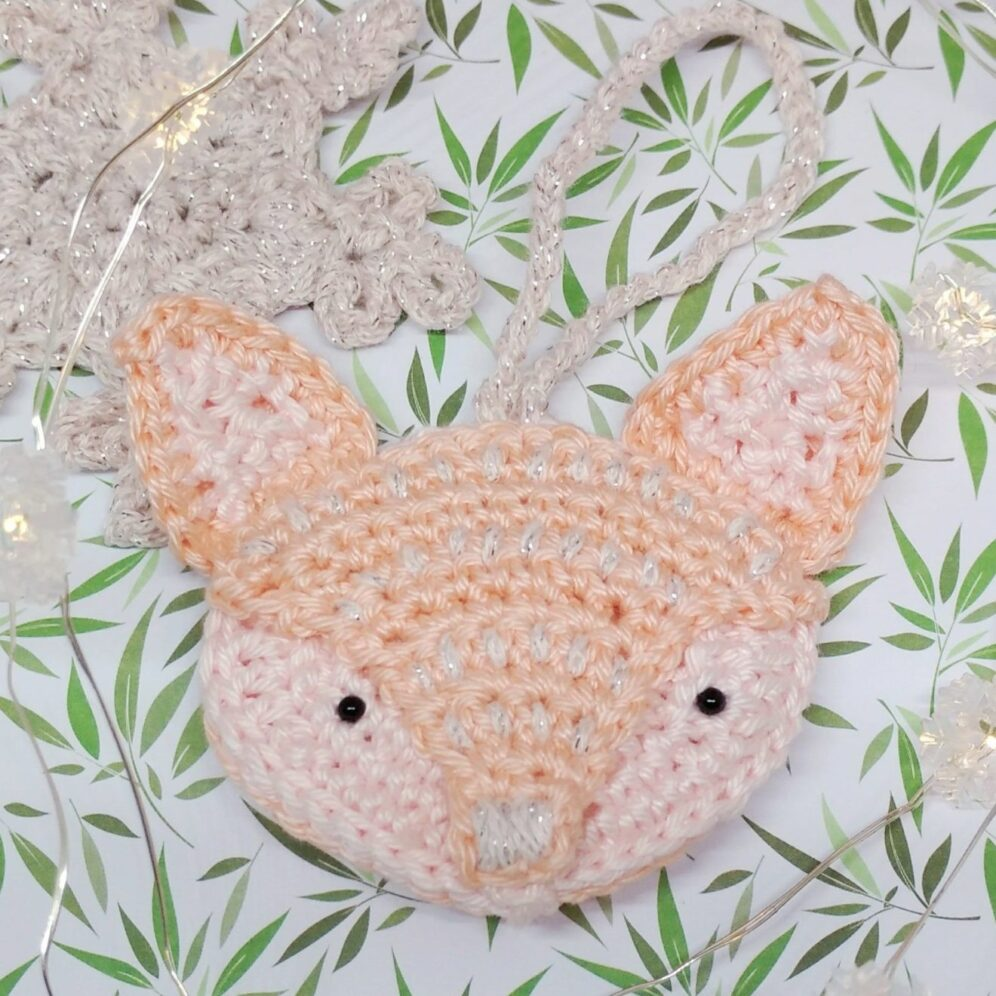 Fox Ornament - Free Woodland Christmas Crochet Pattern - Crochet Cloudberry