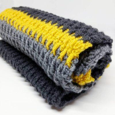 Men's crochet scarf - free crochet pattern - crochet cloudberry