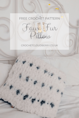 Snow Leopard Cushion - Free Crochet Pattern - Crochet Cloudberry