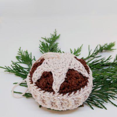 Crochet Mince Pie Holiday Ornament - Free Crochet Pattern - Crochet Cloudberry