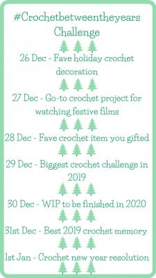 #crochetbetweentheyears challenge
