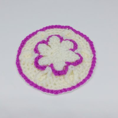 Amethyst Flower Granny Square - Winter Jewel Lapghan Free Crochet Along - Crochet Cloudberry