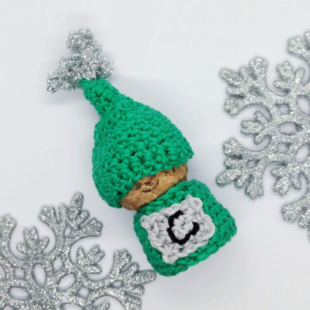 Champagne Cork Gnome - Free Crochet Pattern - Crochet Cloudberry