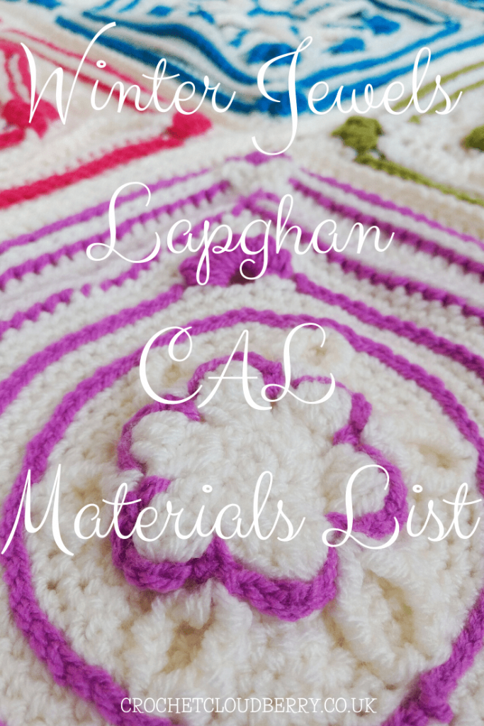 Winter Jewels Lapghan - Free crochet Pattern - Materials List - Crochet Cloudberry