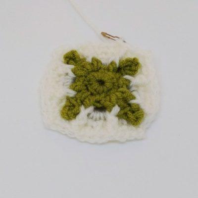 Emerald Cube Granny Square - Winter Jewel Lapghan Free