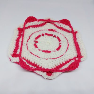 Ruby Hexagon Granny Square Pattern - Winter Jewel Lapghan Free Crochet Along - Free Crochet Pattern - Crochet Cloudberry