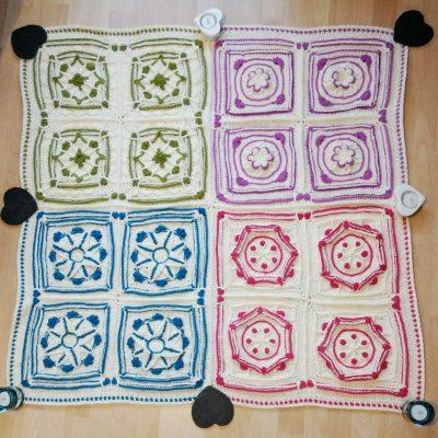 Join and Border - Winter Jewel Lapghan Free Crochet Along - Free Crochet Pattern - Crochet Cloudberry