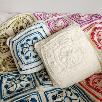 Winter Jewels Cushion Cover - Free Crochet Pattern