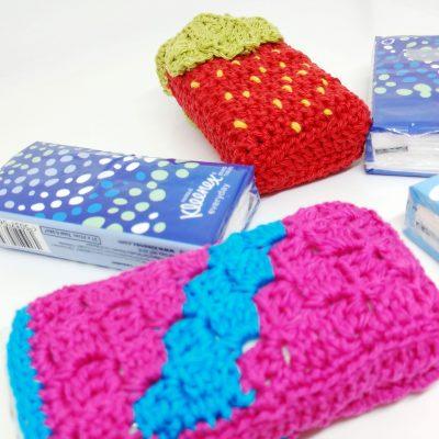 Pocket Tissue Holder - Free Crochet Pattern - Crochet Cloudberry