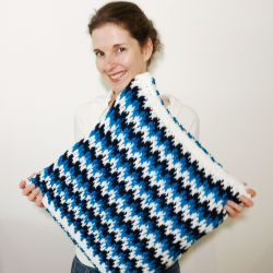 Free crochet pillow pattern with video crochet stitch tutorial