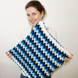 Free crochet pillow pattern with video crochet stitch tutorial