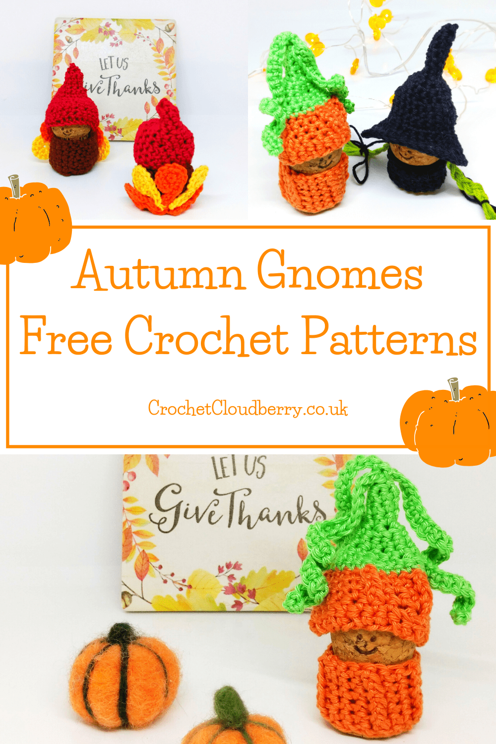 Autumn Crochet Gnomes - Free Crochet Patterns