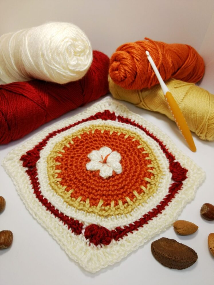 Pumpkin Pie Granny Square - free crochet pattern - autumn crochet