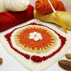Four fantastic fall square - free crochet along - crochet cloudberry