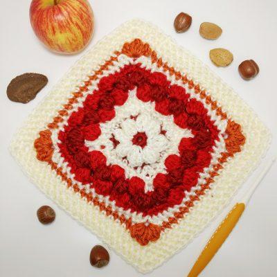 Four fantastic fall square - free crochet along - crochet cloudberry