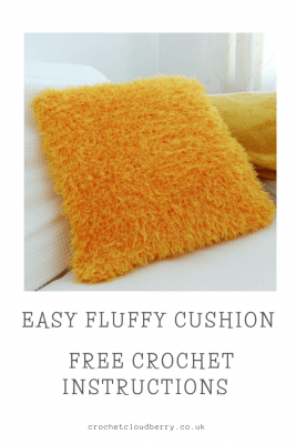 Easy Shaggy Cushion Cover - Free How To Crochet Pattern