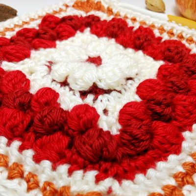 Cranberry Pie Granny Square - free crochet pattern - autumn crochet