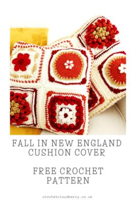 Fall in New England Cushion - free Crochet Pattern - Crochet Cloudberry