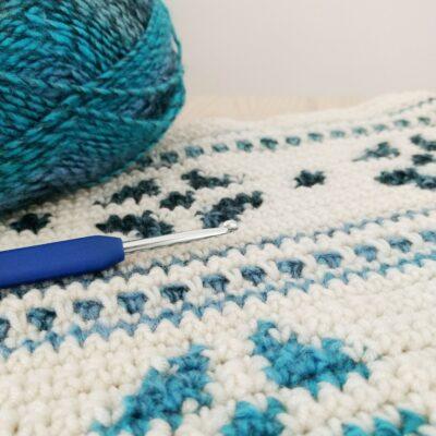 Lagom Snowflake Crochet Cushion Cover
