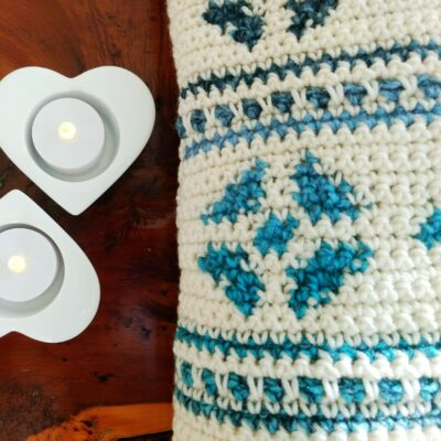 Lagom Snowflake Crochet Cushion