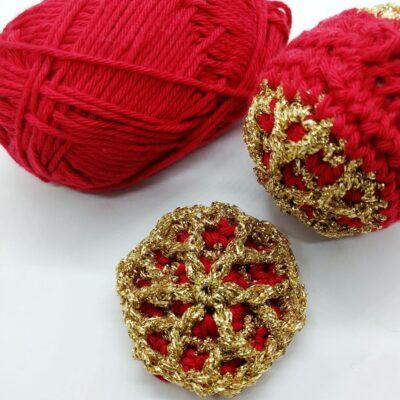 Quick crochet Christmas ornamet - free crochet pattern - Crochet Cloudberry