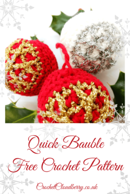 Quick crochet Christmas hanger - free crochet pattern - Crochet Cloudberry