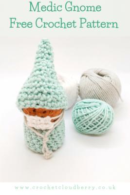 Medic gnome - free crochet pattern - crochet cloudberry