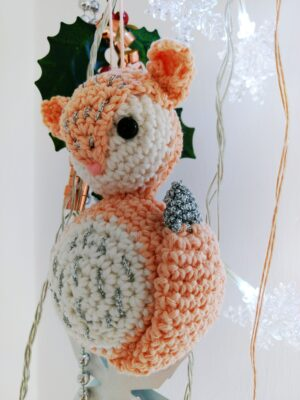 Fox Christmas Ornament Crochet Pattern