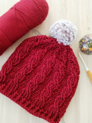 Easy Cable Crochet Hat - Free Crochet Pattern