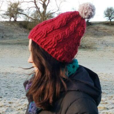 Easy Cable Crochet Hat - Free Crochet Pattern