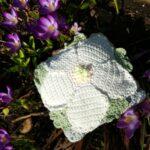 Hellebore 8 inch square - Alpine Bloom Crochet - Crochet Cloudberry